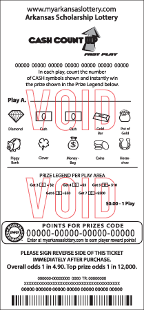 My arkansas lottery points for prizes code