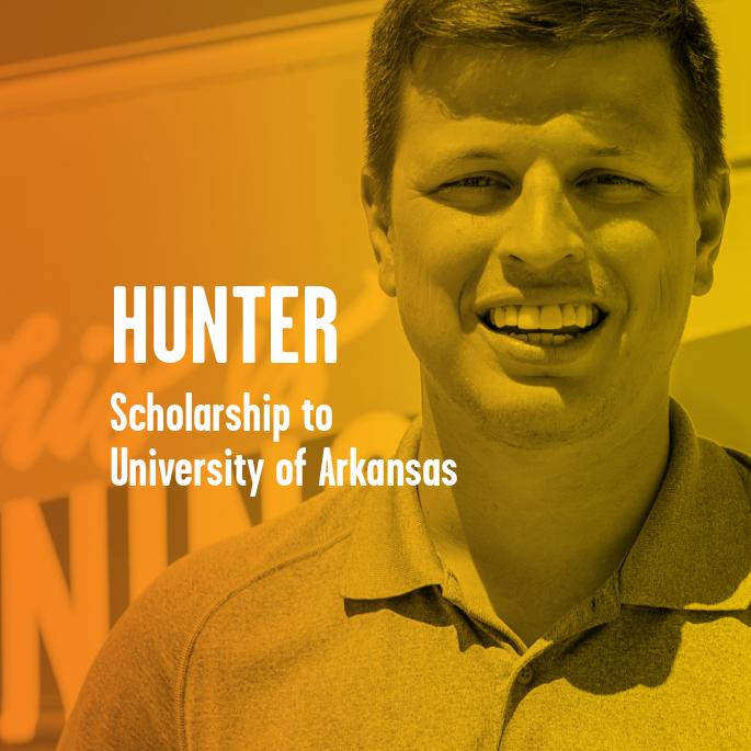 Scholarship Recipient Hunter Stuckey