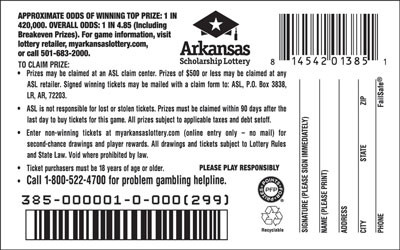 Arkansas Lottery Instant Ticket - Double Frenzy