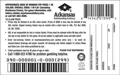 Arkansas Lottery Instant Ticket - Quick 7'$