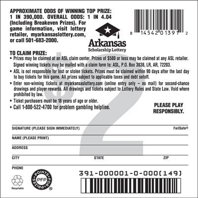Arkansas Lottery Instant Ticket - Triple Dynamite 777
