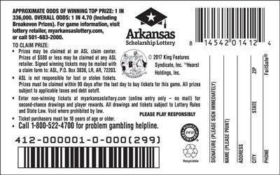 Arkansas Lottery Instant Ticket - Popeye®