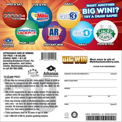 Win Big - Game No. 499 - Back