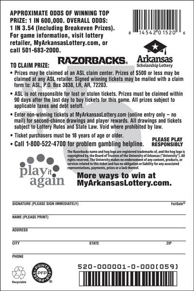Razorbacks - Game No. 520