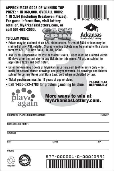 Cash $pin - Game No. 577