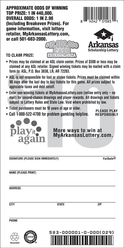 $10,000,000 Cash Extravaganza - Game No. 583