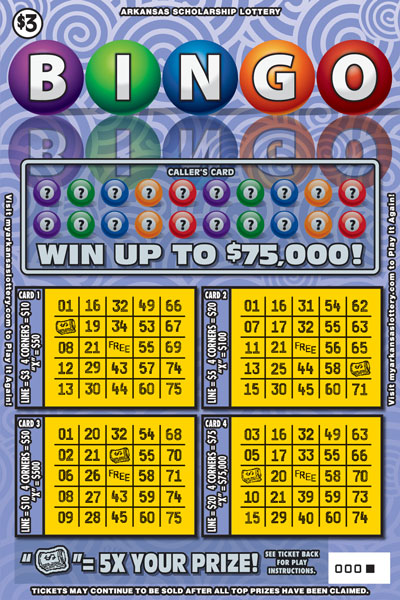 Arkansas Lottery Instant Ticket - Bingo