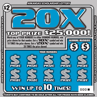 Arkansas Lottery Instant Ticket - 20X