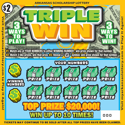 Arkansas Lottery Instant Ticket - Triple Win
