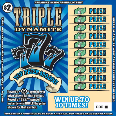 Arkansas Lottery Instant Ticket - Triple Dynamite 777