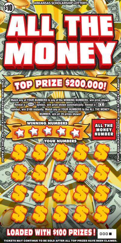 Arkansas Lottery Instant Ticket - All The Money