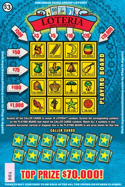 Arkansas Lottery Instant Ticket - Loteria™