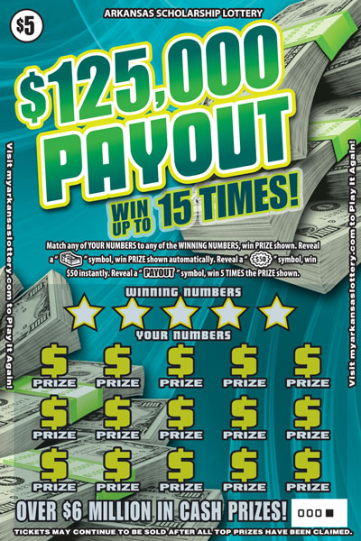 Arkansas Lottery Instant Ticket - $125,000 Payout