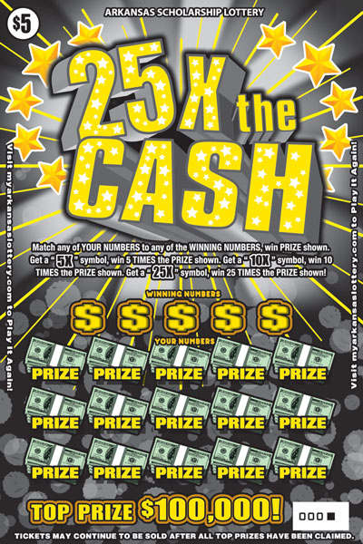 Arkansas Lottery Instant Ticket - 25X The Cash