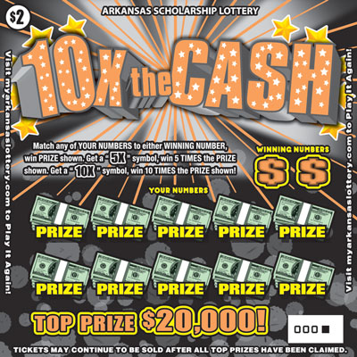 Arkansas Lottery Instant Ticket - 10X The Cash
