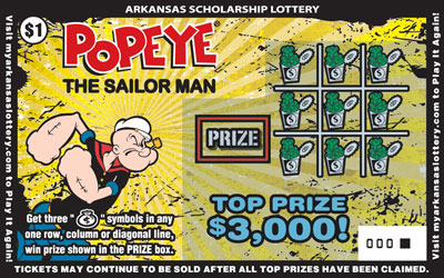 Arkansas Lottery Instant Ticket - Popeye®