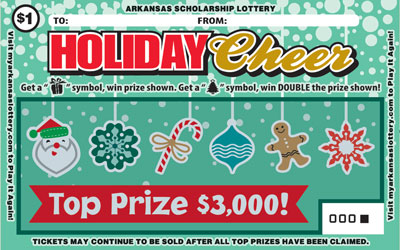 Arkansas Lottery Instant Ticket - Holiday Cheer