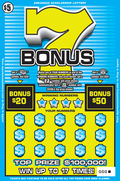 Arkansas Lottery Instant Ticket - Bonus 7