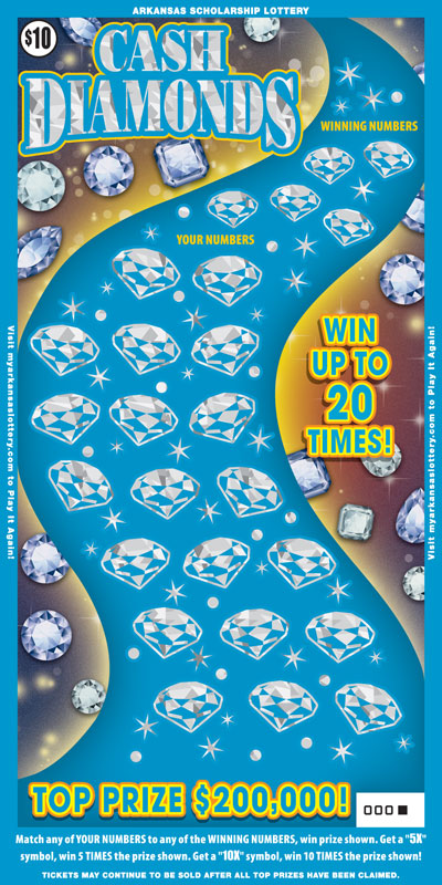 Arkansas Lottery Instant Ticket - Cash Diamonds