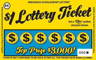 Arkansas Lottery Instant Ticket - $1 Lottery Ticket