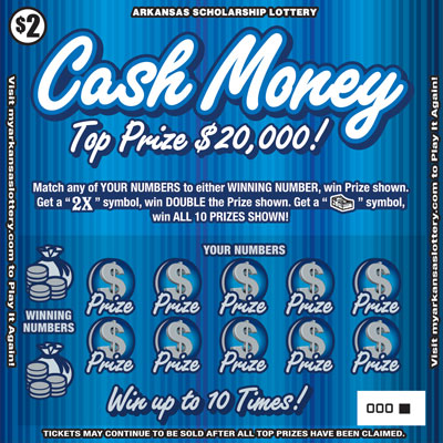 Arkansas Lottery Instant Ticket - Cash Money