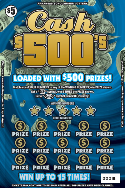 Arkansas Lottery Instant Ticket - Multiplier Money
