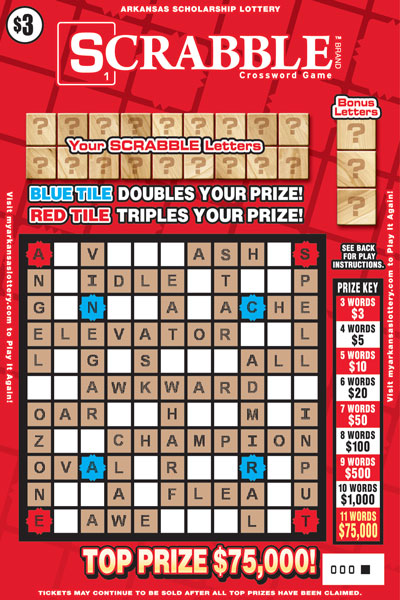 Arkansas Lottery Instant Ticket - SCRABBLE™ Crossword