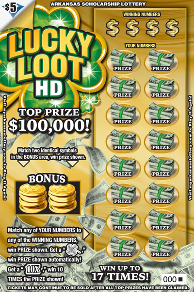 Arkansas Lottery Instant Ticket - Lucky Loot HD