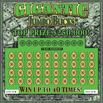 Arkansas Lottery Instant Ticket - Gigantic Jumbo Bucks