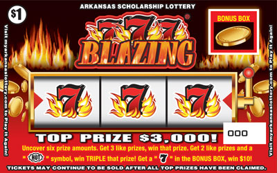 Blazing 777 - Game No. 448 - Front