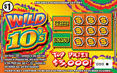 Wild 10's - Game No. 462 - Front