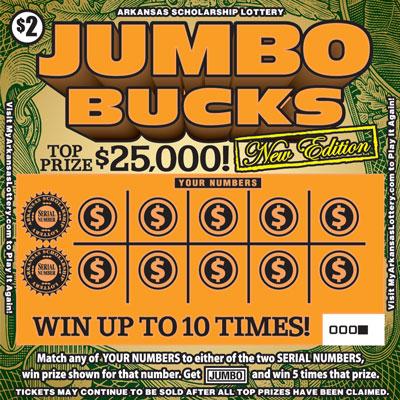 Jumbo Bucks | Arkansas Scholarship Lottery