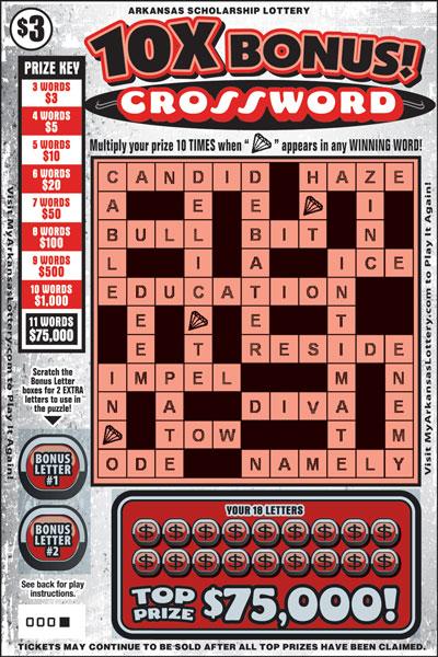 10X Bucks! Crossword - Game No. 486