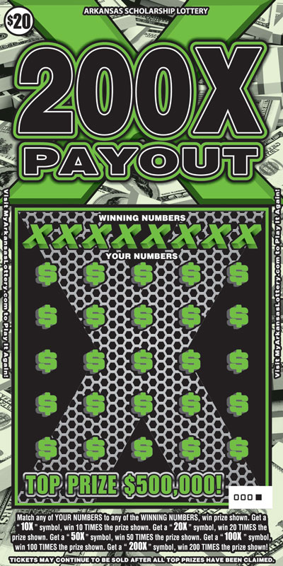 200X Payout - Game No. 494 - Front