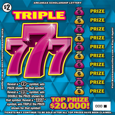 Triple 777 - Game No. 496 - Front