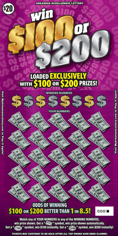Win $100 or $200 - Game No. 516