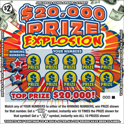 $20,000 Prize Explosion - Game No. 523 - Front