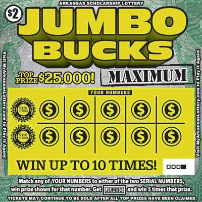Jumbo Bucks Maximum - Game No. 542 - Front