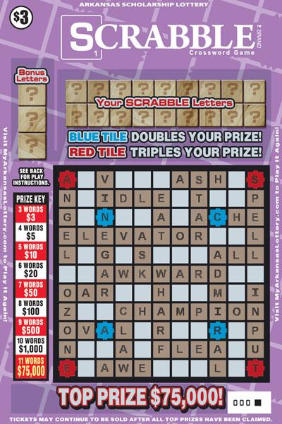 SCRABBLE™ Crossword - Game No. 543 - Front