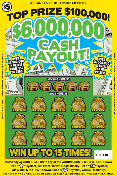 $6,000,000 Cash Payout - Game No. 568