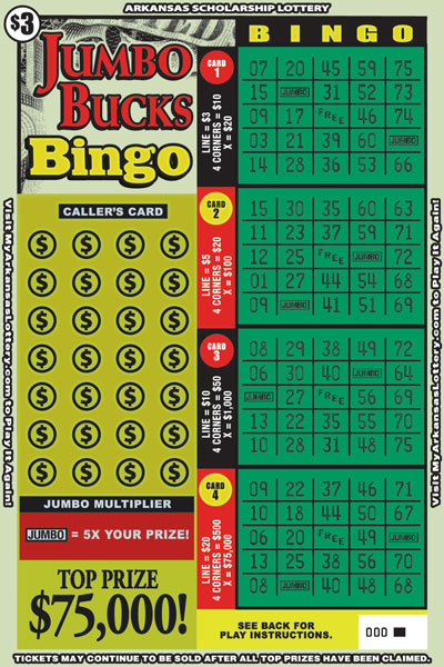 Jumbo Bucks Bingo - Game No. 586