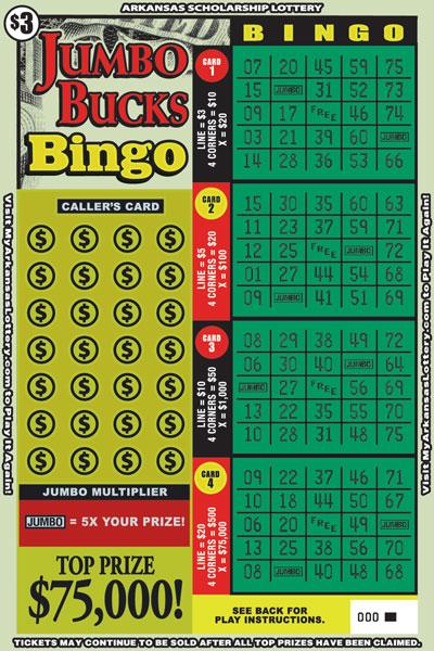 Jumbo Bucks Bingo - Game No. 586