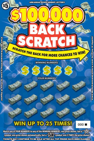 $100,000 Back Scratch - Game No. 587
