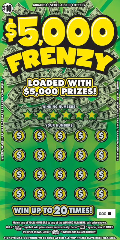 $5,000 Frenzy - Game No. 598