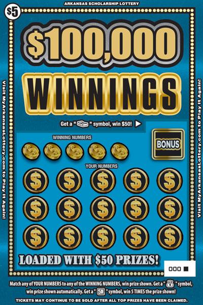$100,000 Winnings - Game No. 640