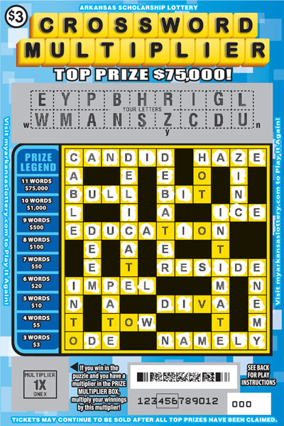 Arkansas Lottery Instant Ticket - Crossword Multiplier