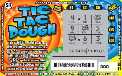 Arkansas Lottery Instant Ticket - Tic Tac Dough