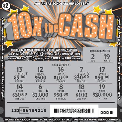 Arkansas Lottery Instant Ticket - 10X The Cash
