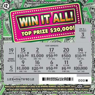 Arkansas Lottery Instant Ticket - Win It All!