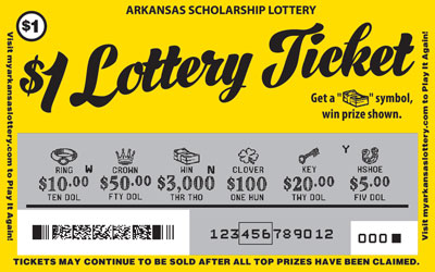 Arkansas Lottery Instant Ticket - $1 Lottery Ticket